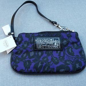Coach Daisy Purple Ocelot Print Wristlet,  NWT